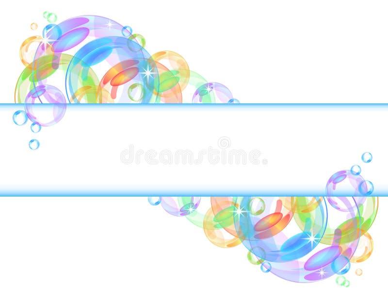 Kleurrijke bellen vectorachtergrond stock illustratie