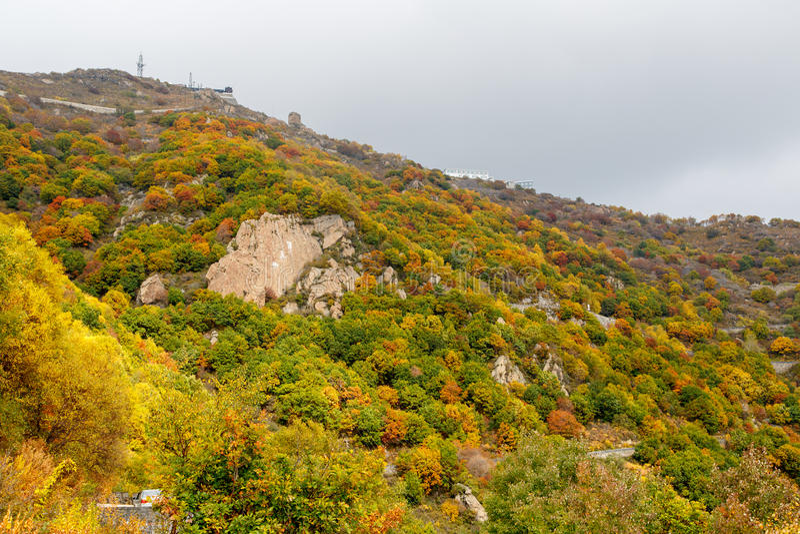 Kleurrijke Berghelling van Baihua Mountainï ¼ Œ Peking stock foto
