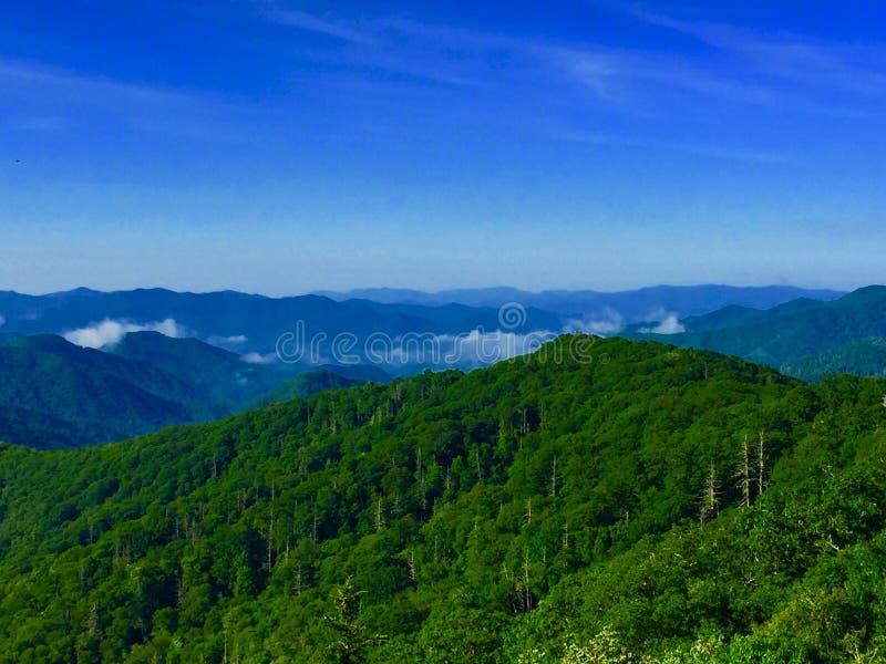 Kleurrijke bergketen royalty-vrije stock afbeelding