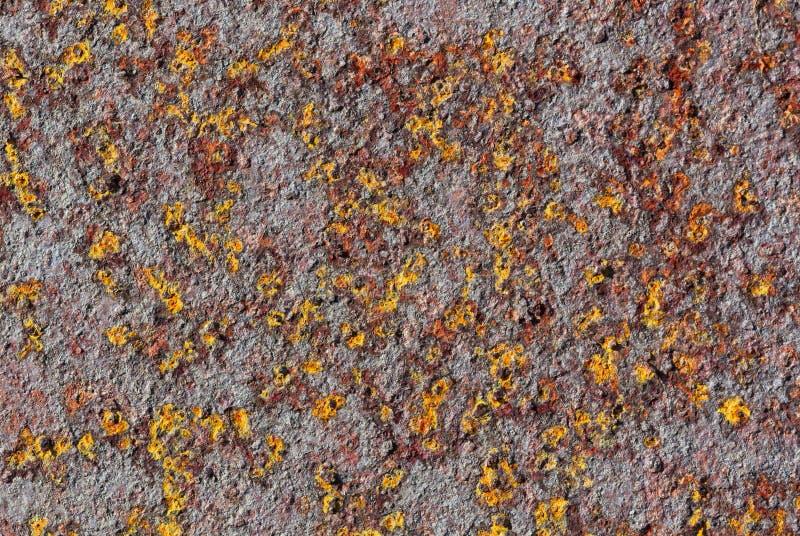 Kleurrijke bevlekte metaalachtergrond stock illustratie