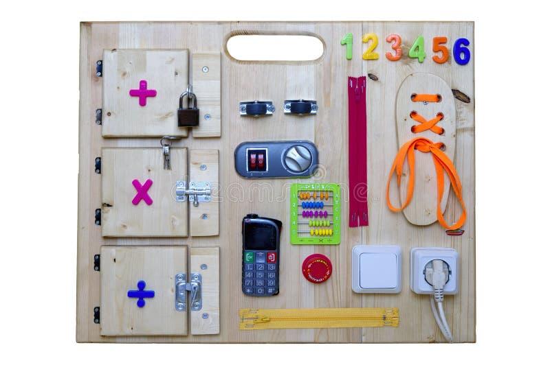 Kleurrijke bezige raad als beste stuk speelgoed voor jonge geitjes royalty-vrije stock afbeelding