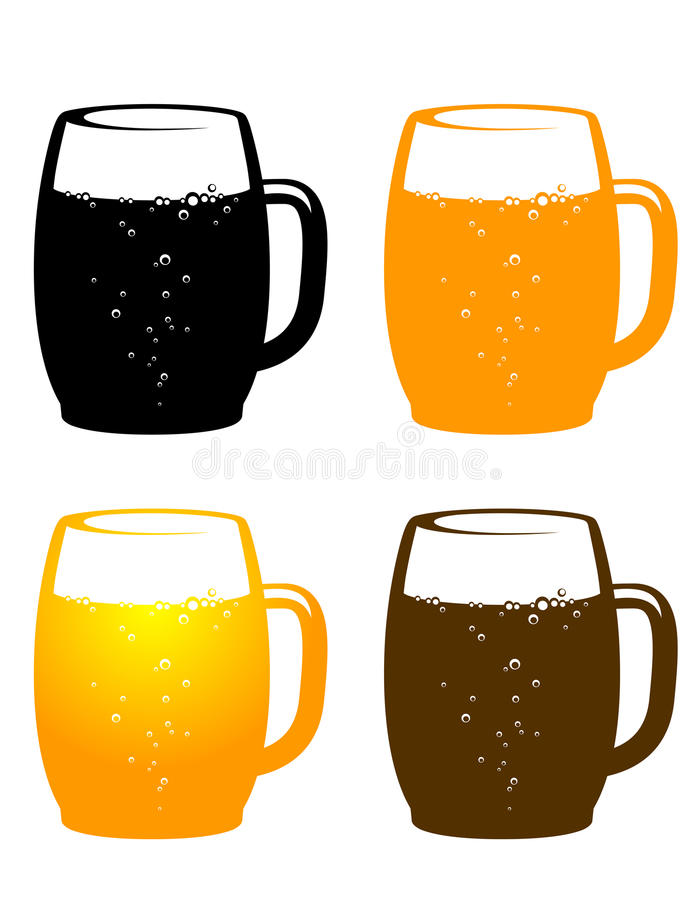 Kleurrijke biermok stock illustratie