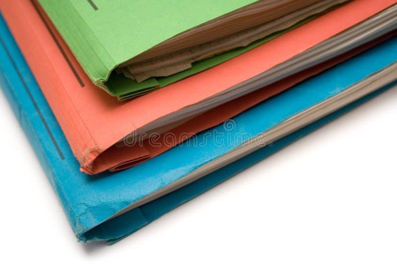 Kleurrijke Bindmiddelen (Hoogste Mening) stock foto