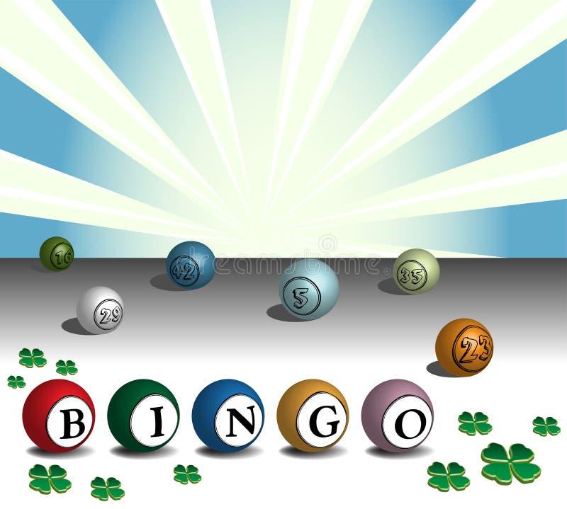 Kleurrijke bingoballen vector illustratie