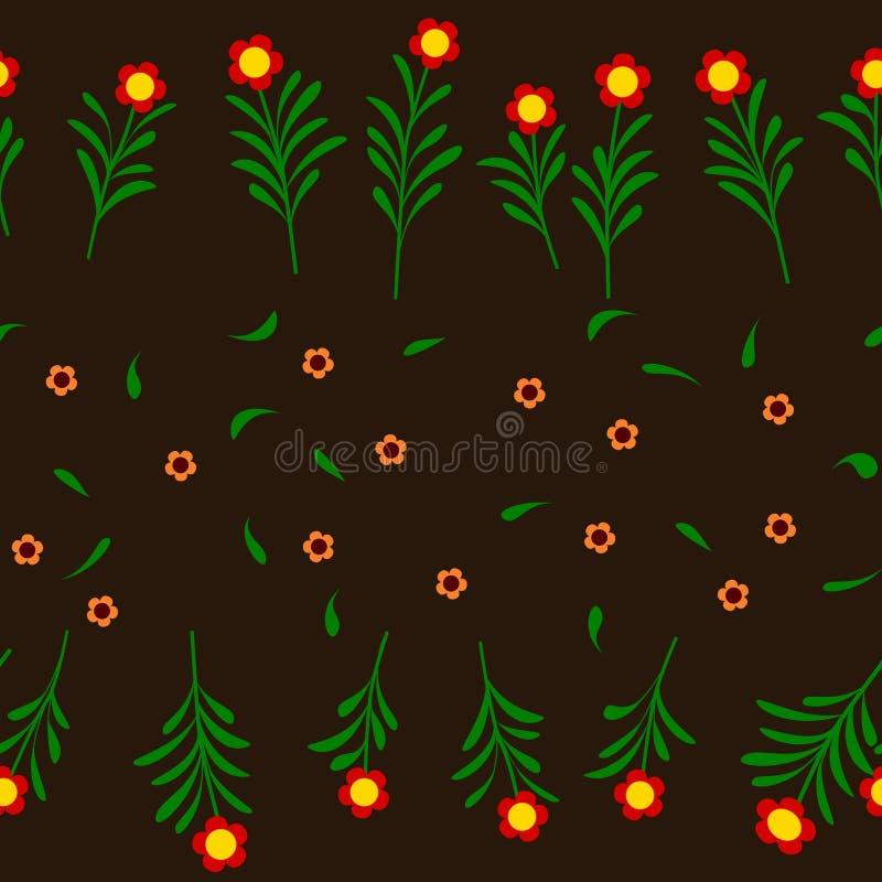 Kleurrijke Bloem en Stamillustratie Vectorachtergrond stock illustratie