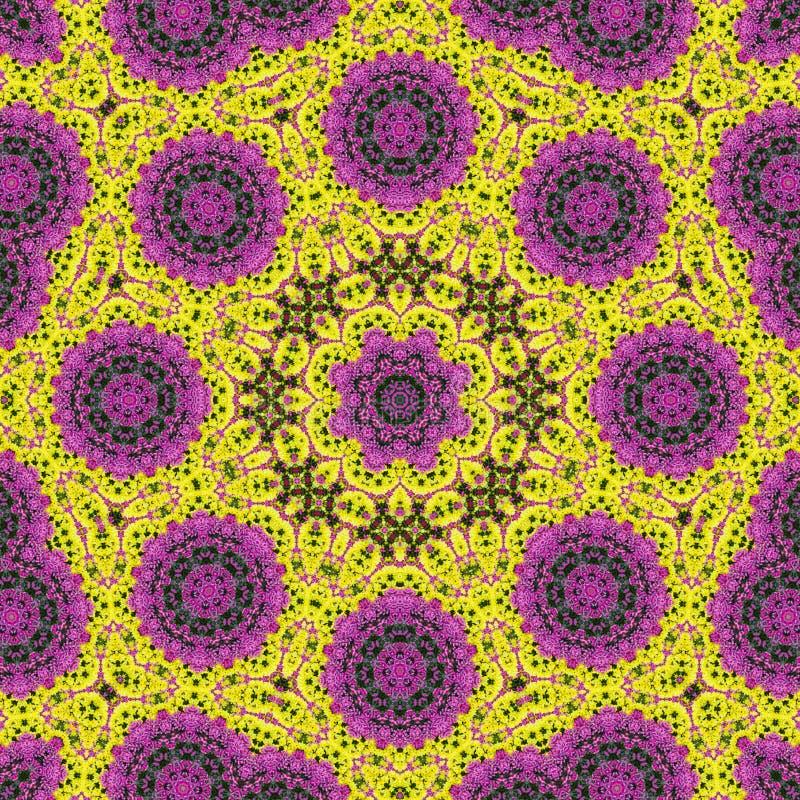 Kleurrijke bloemabstractie als achtergrond royalty-vrije illustratie