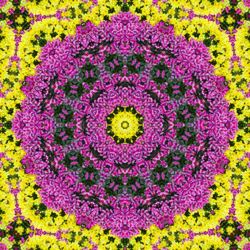 Kleurrijke bloemabstractie als achtergrond vector illustratie