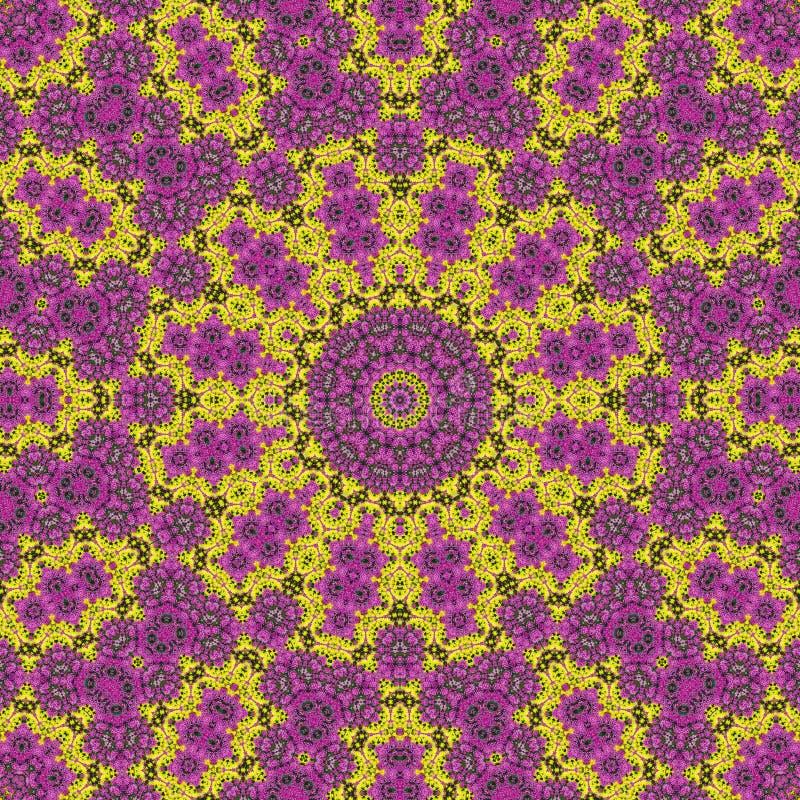 Kleurrijke bloemabstractie als achtergrond stock illustratie