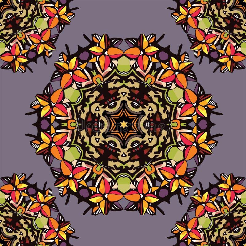 Kleurrijke bloemcaleidoscoop stock illustratie