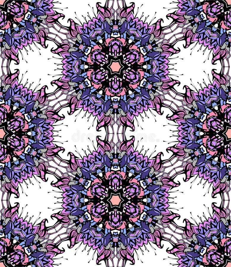 Kleurrijke bloemcaleidoscoop vector illustratie