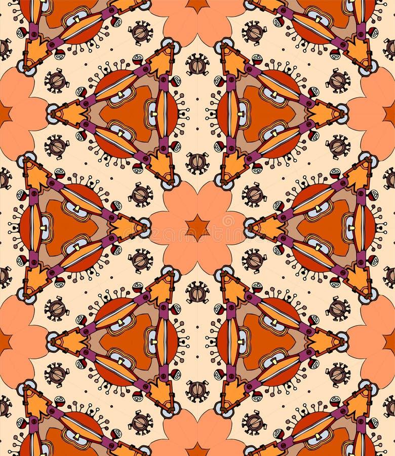Kleurrijke bloemcaleidoscoop royalty-vrije illustratie