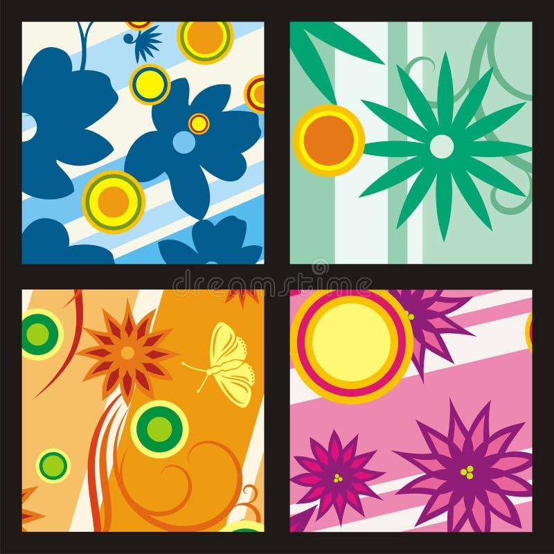 Kleurrijke bloemenachtergrond stock illustratie