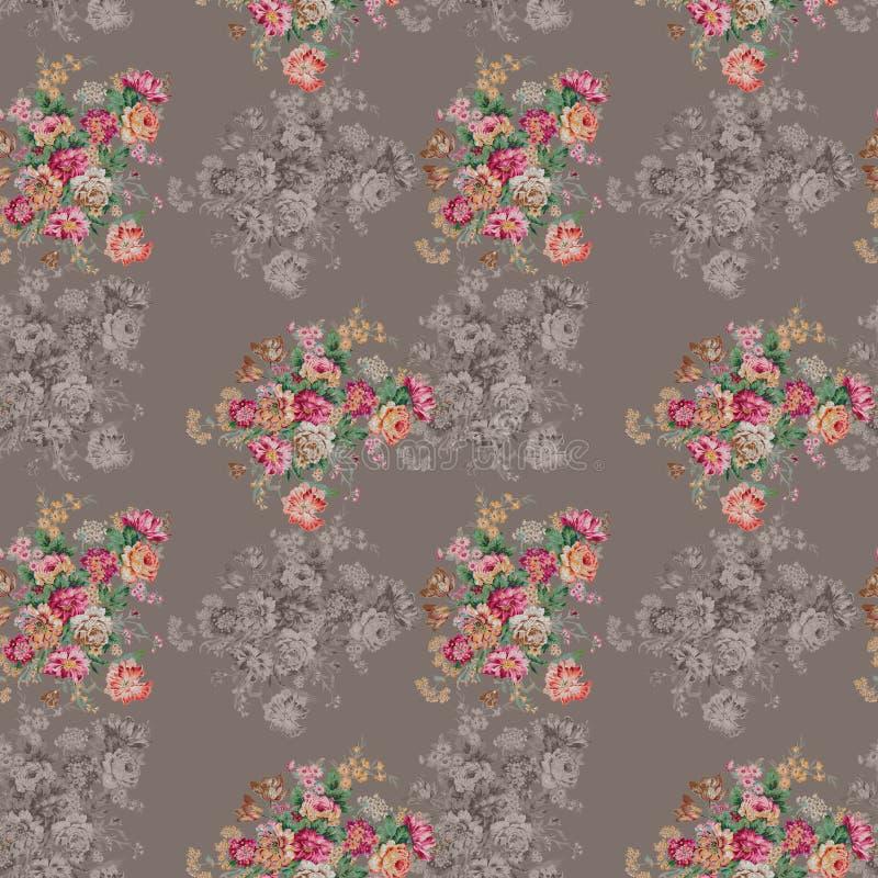 Kleurrijke bloemenachtergrond Waterverf - Illustratie vector illustratie