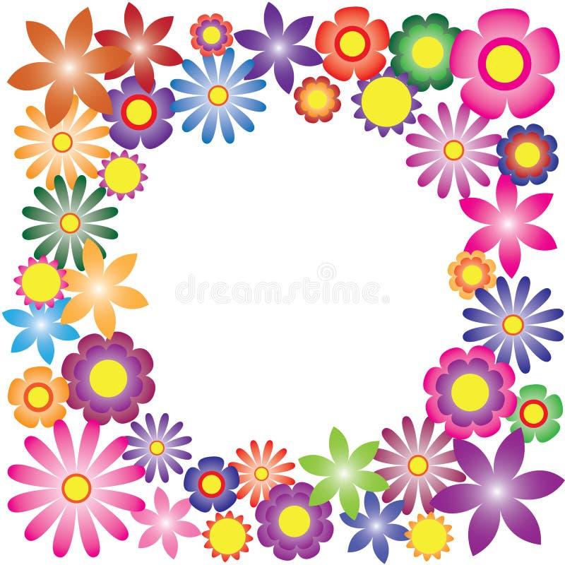 Kleurrijke bloemenvector voor achtergrond stock illustratie