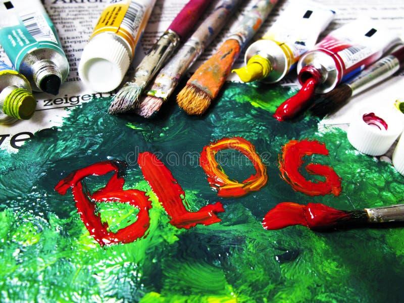 Kleurrijke BLOG stock afbeelding
