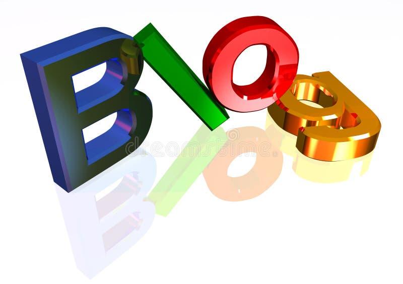 Kleurrijke blogkopbal vector illustratie