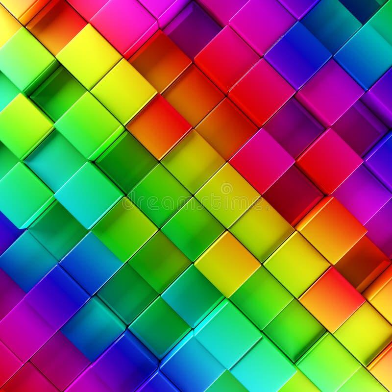 Kleurrijke blokken abstracte achtergrond stock illustratie