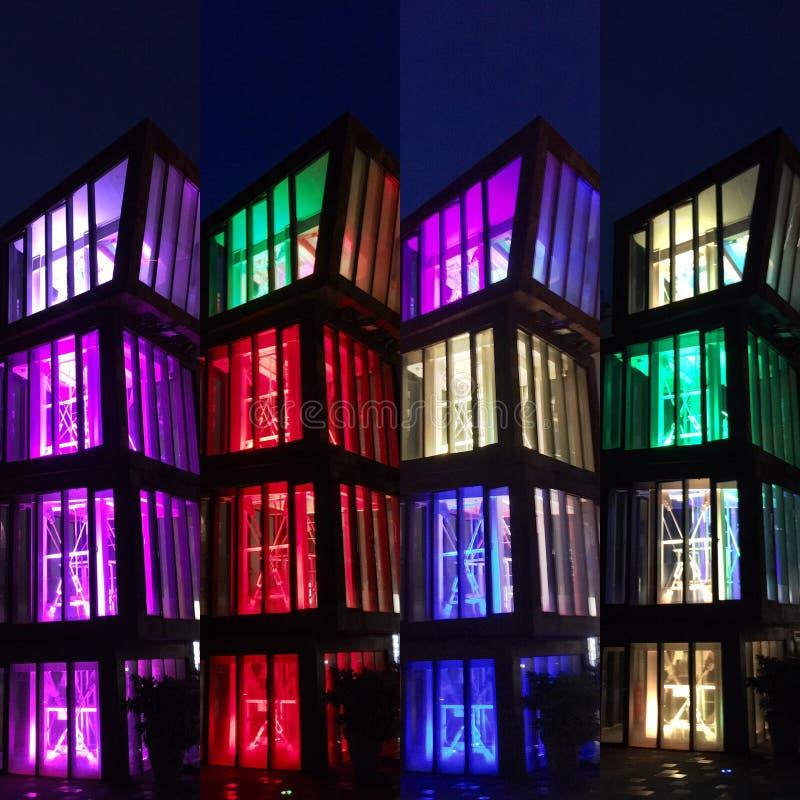 Kleurrijke blokken van lichten royalty-vrije stock foto