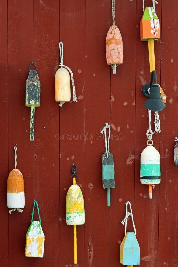 Kleurrijke boeien stock afbeelding