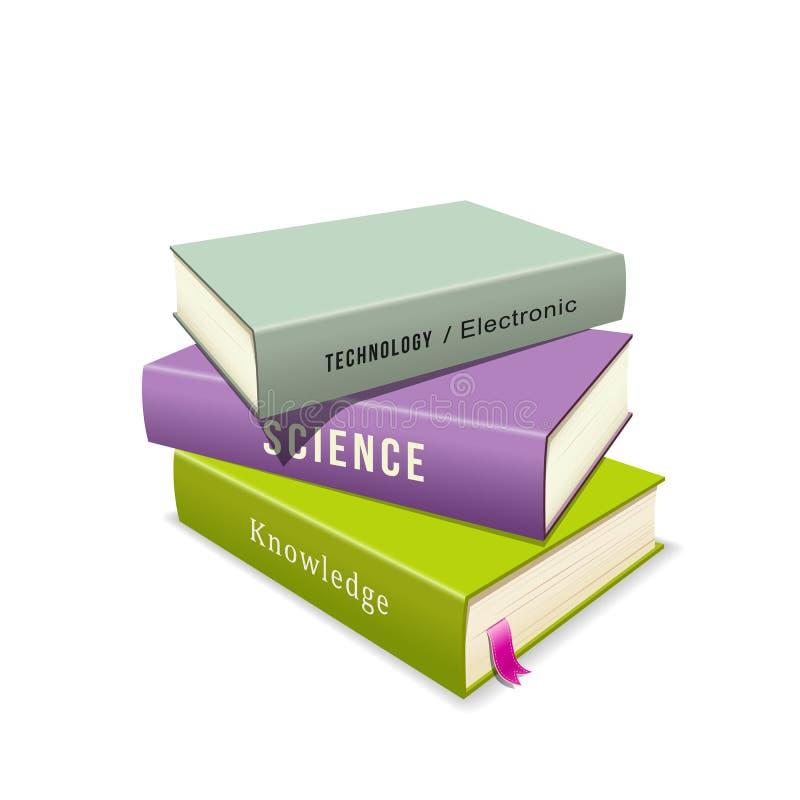 Kleurrijke Boekenstapel vector illustratie