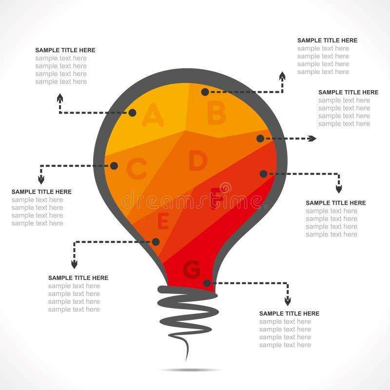 Kleurrijke bol informatie-grafiek ontwerpvector royalty-vrije illustratie