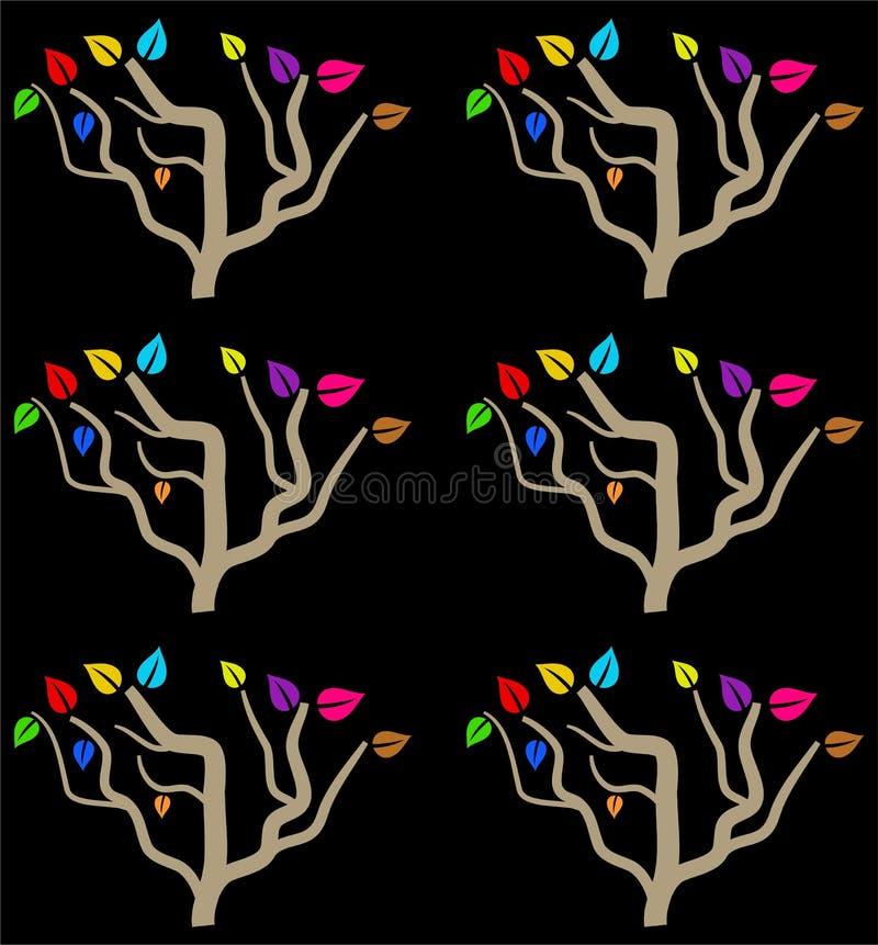 Kleurrijke boom stock illustratie