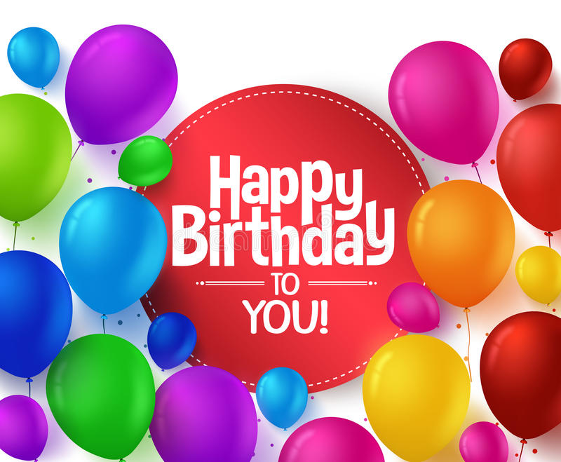 Kleurrijke Bos van Gelukkige Verjaardagsballons voor Partij vector illustratie
