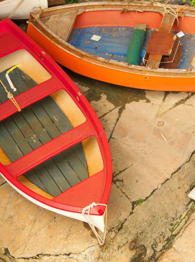 Kleurrijke boten stock fotografie