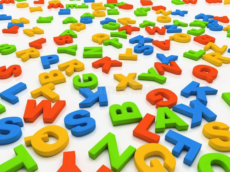 Kleurrijke brieven die op witte achtergrond worden geïsoleerd vector illustratie