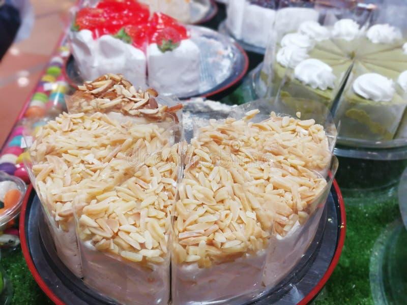 Kleurrijke cakestijl om te eten royalty-vrije stock afbeelding