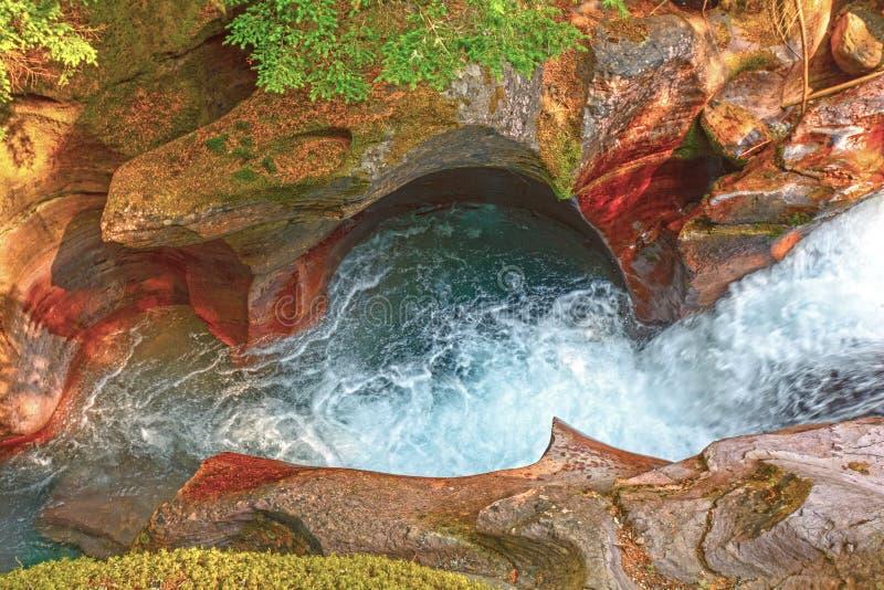 Kleurrijke Canion in een Bergstroom stock afbeeldingen