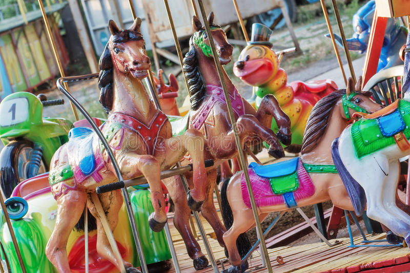 Kleurrijke carrousel stock foto