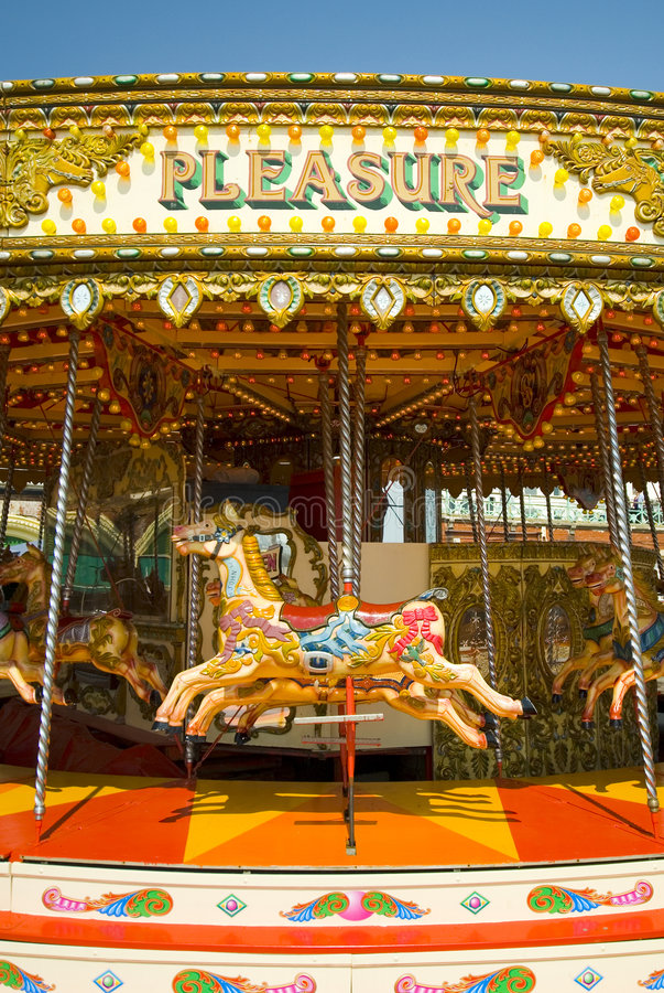 Kleurrijke carrousel royalty-vrije stock foto's