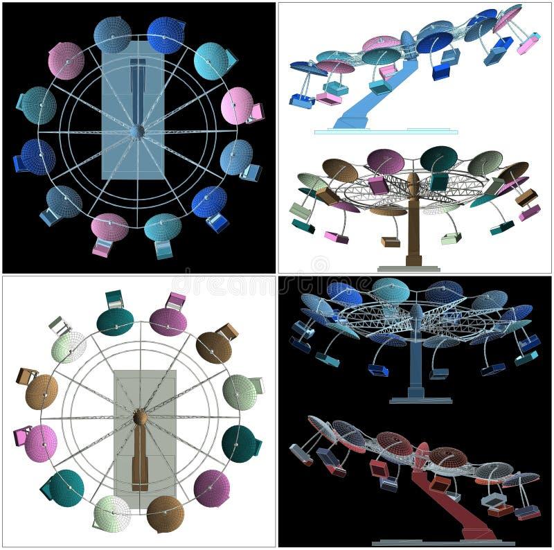 Kleurrijke Carrouselvector vector illustratie