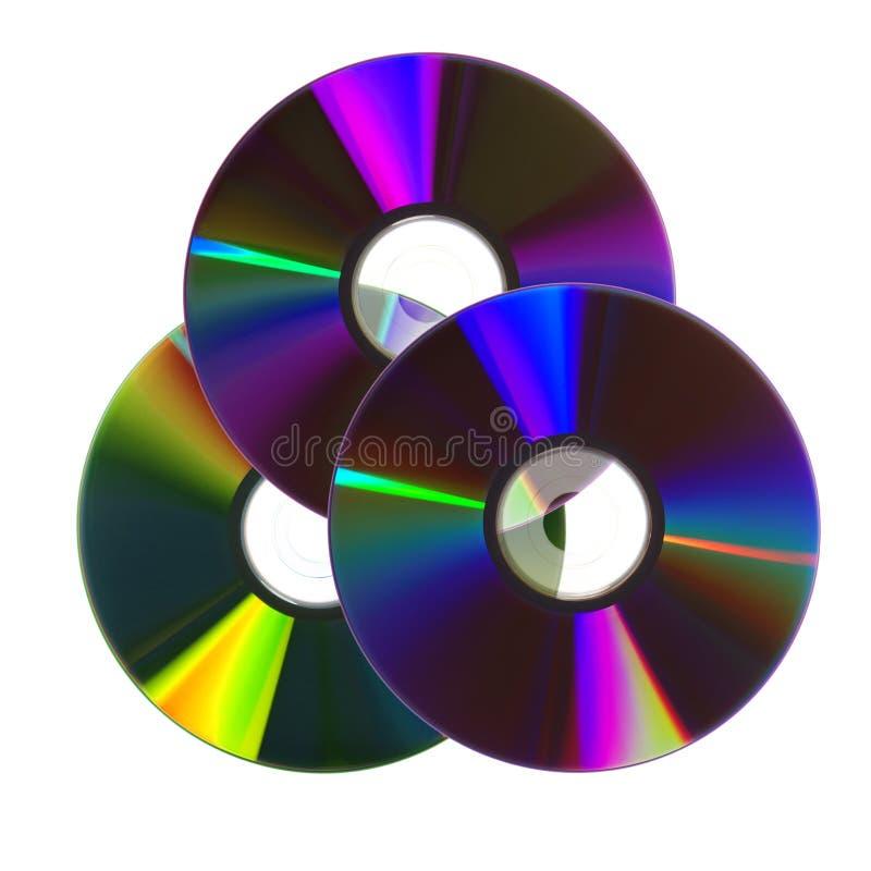 Kleurrijke CDs/DVDs royalty-vrije stock foto's