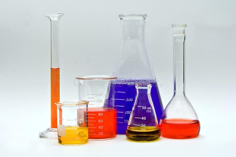 Kleurrijke Chemie royalty-vrije stock fotografie