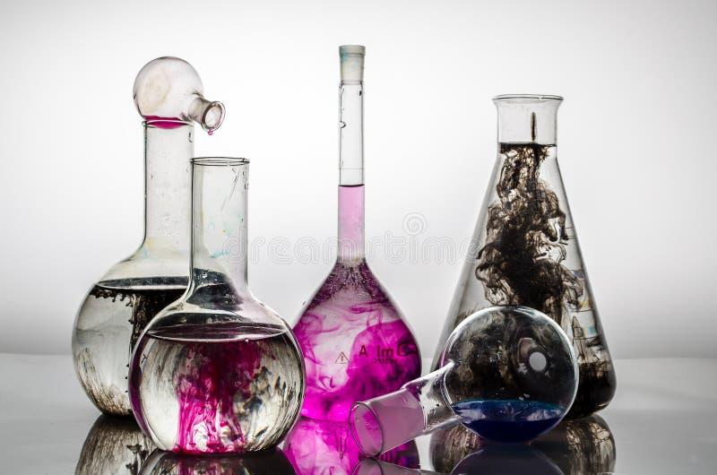 Kleurrijke chemie stock foto