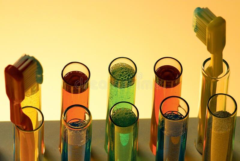 Kleurrijke chemie Wetenschapsvloeistoffen royalty-vrije stock afbeelding