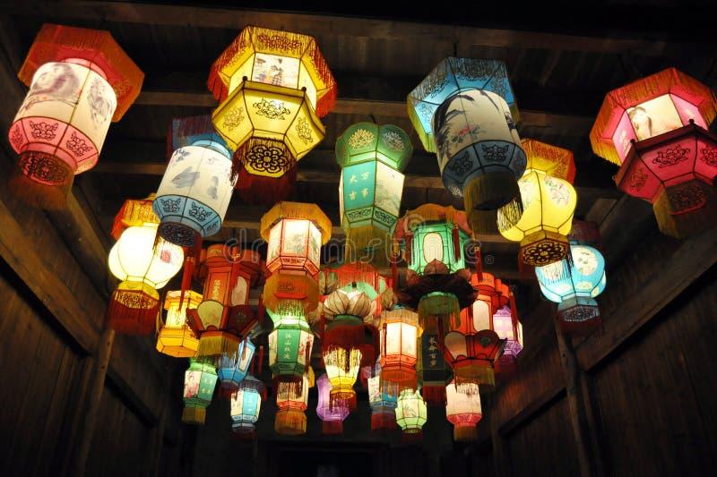 Kleurrijke Chinese Lantaarns stock fotografie