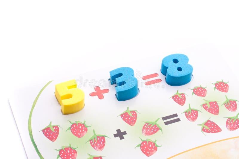 Kleurrijke cijfers stock fotografie