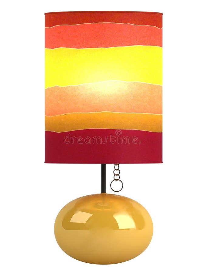 Kleurrijke cilindrische lampekap en basis royalty-vrije illustratie