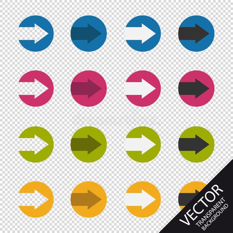 Kleurrijke Cirkelpijlen - VectordieIllustratie - op Transparante Achtergrond wordt geïsoleerd vector illustratie