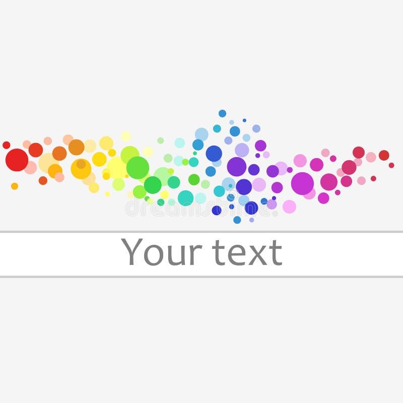 Kleurrijke cirkels vectorachtergrond Kleurrijke abstracte achtergrond van kleurrijke punten, cirkels met plaats voor uw tekst stock illustratie