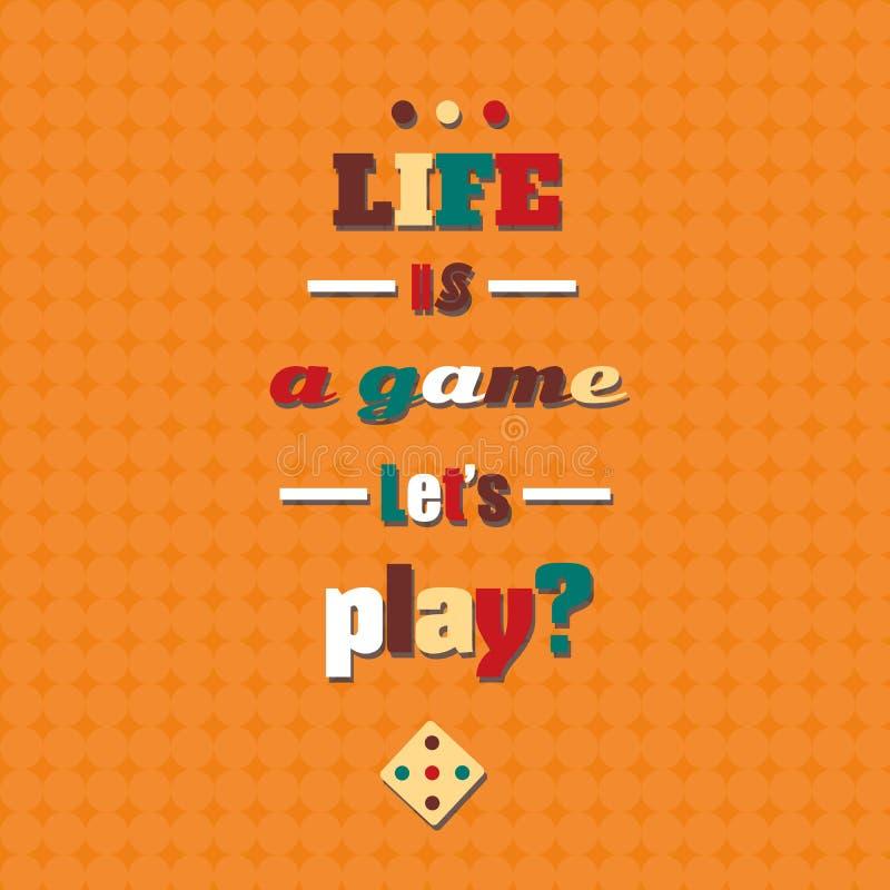 Kleurrijke citaat typografische Achtergrond stock illustratie