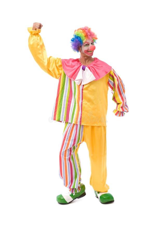 Kleurrijke clown die een gezicht maakt royalty-vrije stock foto