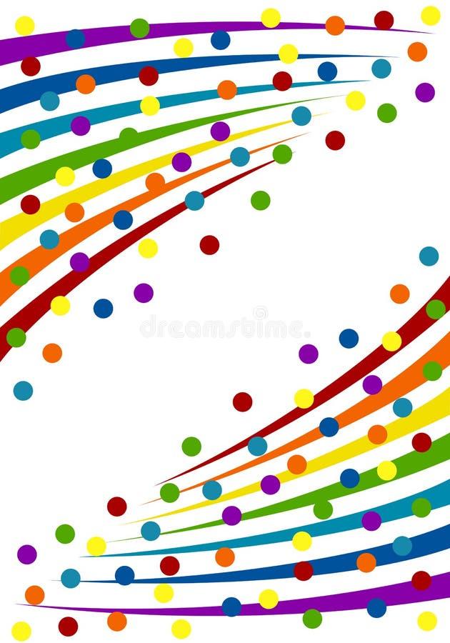 Kleurrijke confettienachtergrond. stock illustratie