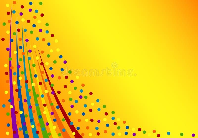Kleurrijke confettienachtergrond. royalty-vrije illustratie