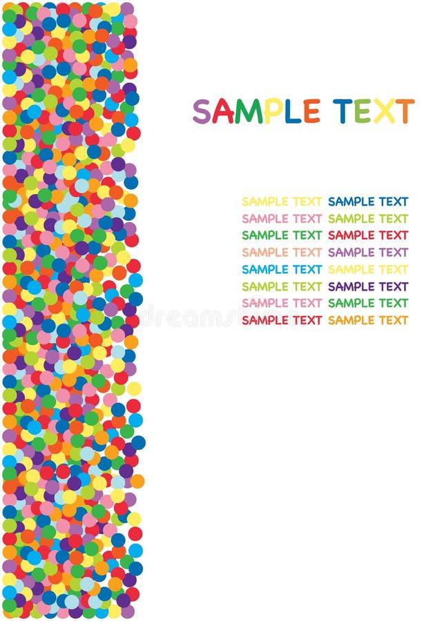 Kleurrijke confettiengrens stock illustratie