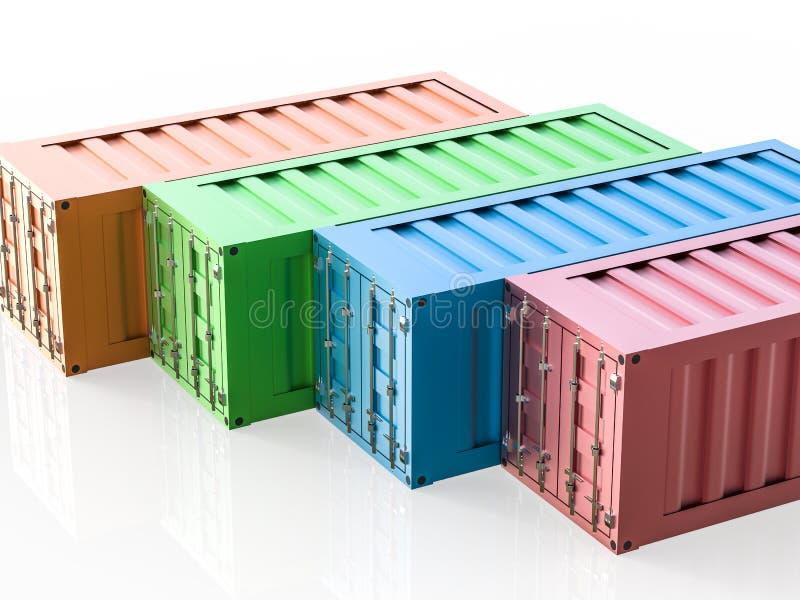 Kleurrijke containers stock illustratie