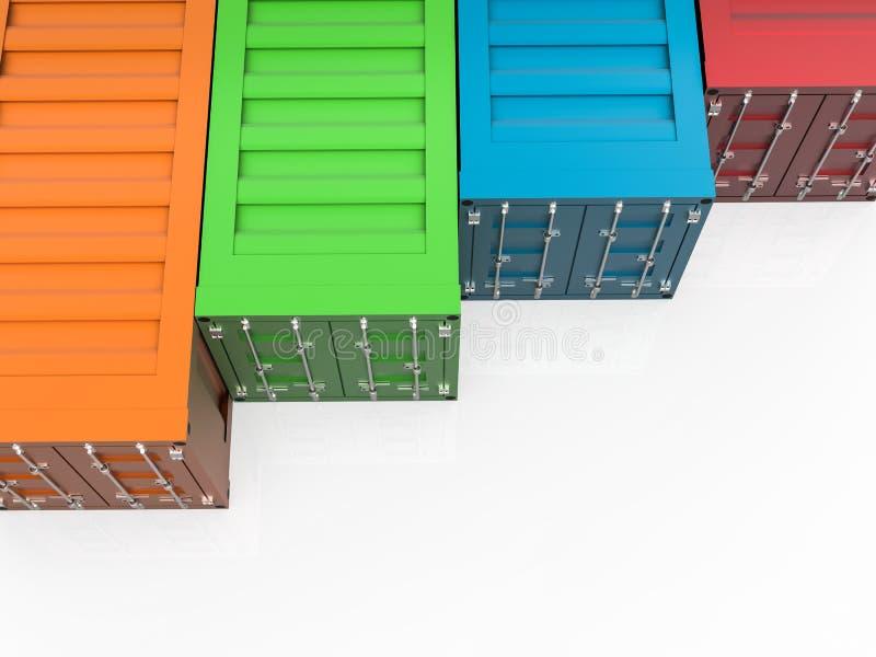 Kleurrijke containers royalty-vrije illustratie